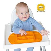 EasyMat Mini Portable Baby Suction Plate, with Lid and Carry Case for High Char