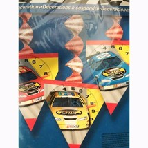 Nascar On Track Hanging Flag Style Piece Birthday Party Decorations NEW - $5.89