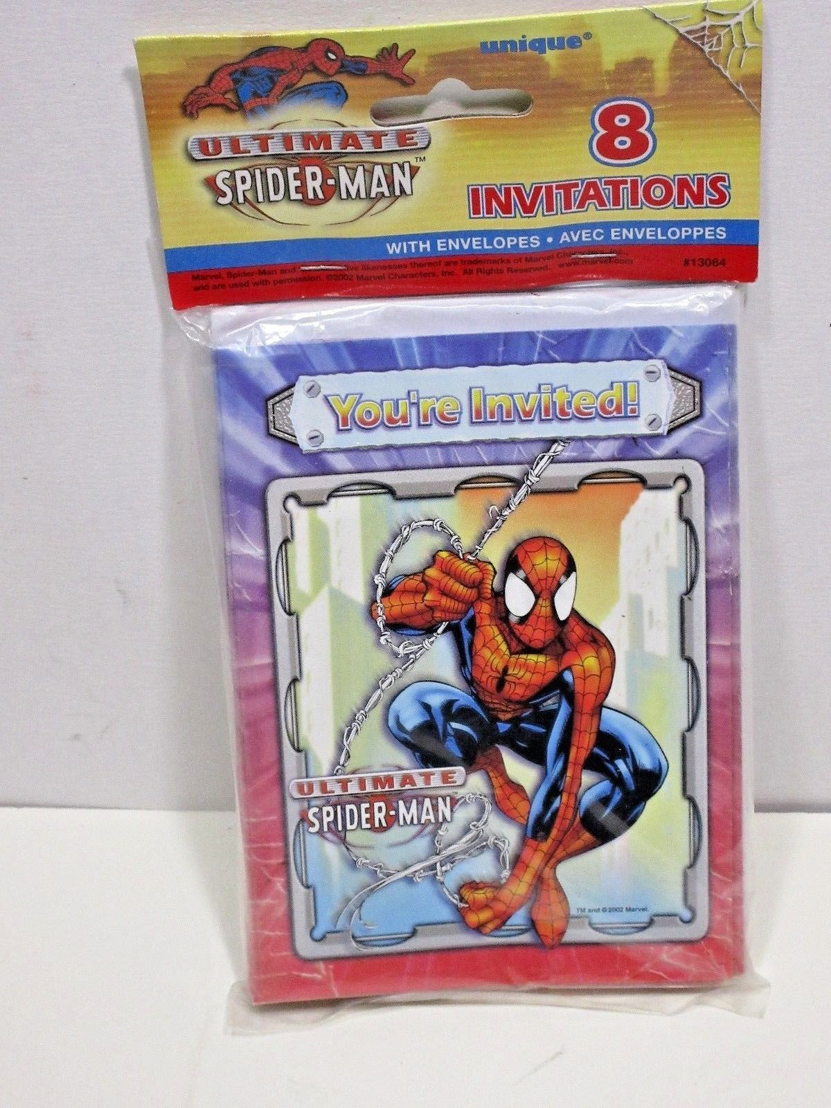 Ultimate SPIDER-MAN INVITES & ENVELOPES  BIRTHDAY PARTY Supplies