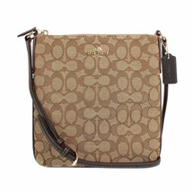 New! Authentic! Khaki/Brown Coach Outline Signature Ns Crossbody - $128.58