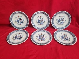 Johnson Brothers Old Granite Hearts Flowers Primitive Style diner plates Lot X 6 - $84.15