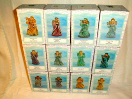 Novelino 12 pc Christmas angels of the month figurines 1993 complete set - $80.00