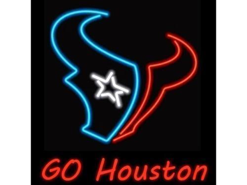 "New Houston Texans Go Houston NFL Neon Sign 24""x20"" Ship From USA"