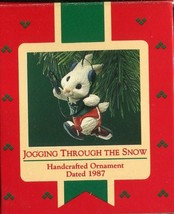 1987 - New in Box - Hallmark Christmas Keepsake Ornament - Jogging Throu... - $5.44