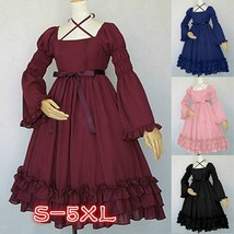 Women's Medieval Cosplay Dress Classic Sweat Lolita Dress Flare  Mini Dress - $19.53
