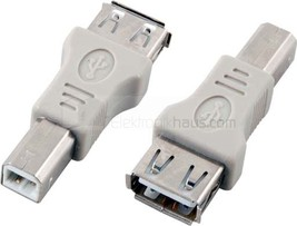 2.0 USB Adapter Connection A Socket Coupling Female to B Plug EB443 - $4.08