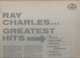 Ray Charles Greatest Hits - ABCS 415 - ABC Paramount - 1961 image 3