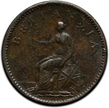 Rare 1806 Great Britain Farthing KM# 661 Coin Lot # A 424 image 2