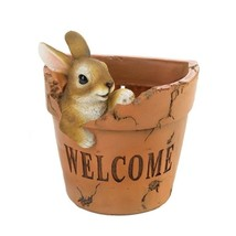 Welcoming Bunny Flower Pot w/ Drain Hole  - $22.72