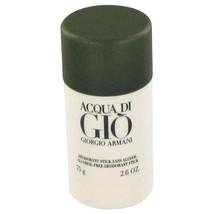 Acqua Di Gio Cologne by Giorgio Armani 2.6 oz Deodorant Stick - $31.00