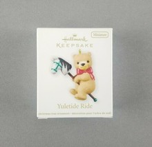 "Hallmark 2012 Keepsake Christmas Miniature Ornament ""Yuletide Ride"" Tedd... - $9.89"