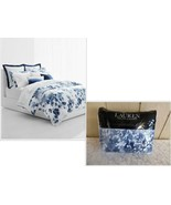$270 Lauren Ralph Lauren Flora 3-Pc. Full/ Queen Duvet Set, Blue Floral ... - $94.05