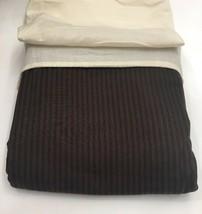 Restoration Hardware Garment-Dyed Ticking Stripe Duvet Twin Chocolate NE... - $129.99