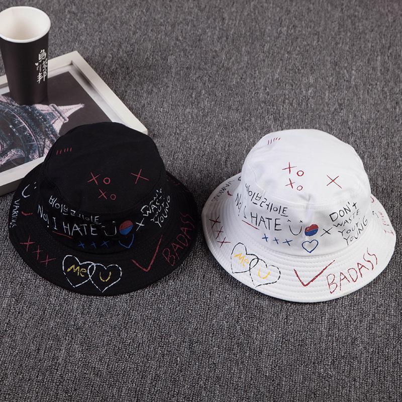 Unisex Panama Bucket Hat Boonie Cotton Hunting Fishing Outdoor Cap Badass Sun