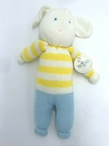 Eden Vintage Sweater Plush Bunny Rabbit Yellow White Stripe Blue READ 1988 - $129.99