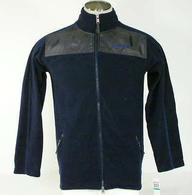 Timberland Signature Blue Fleece Zip Front Jacket Boy's Size Medium M NWT