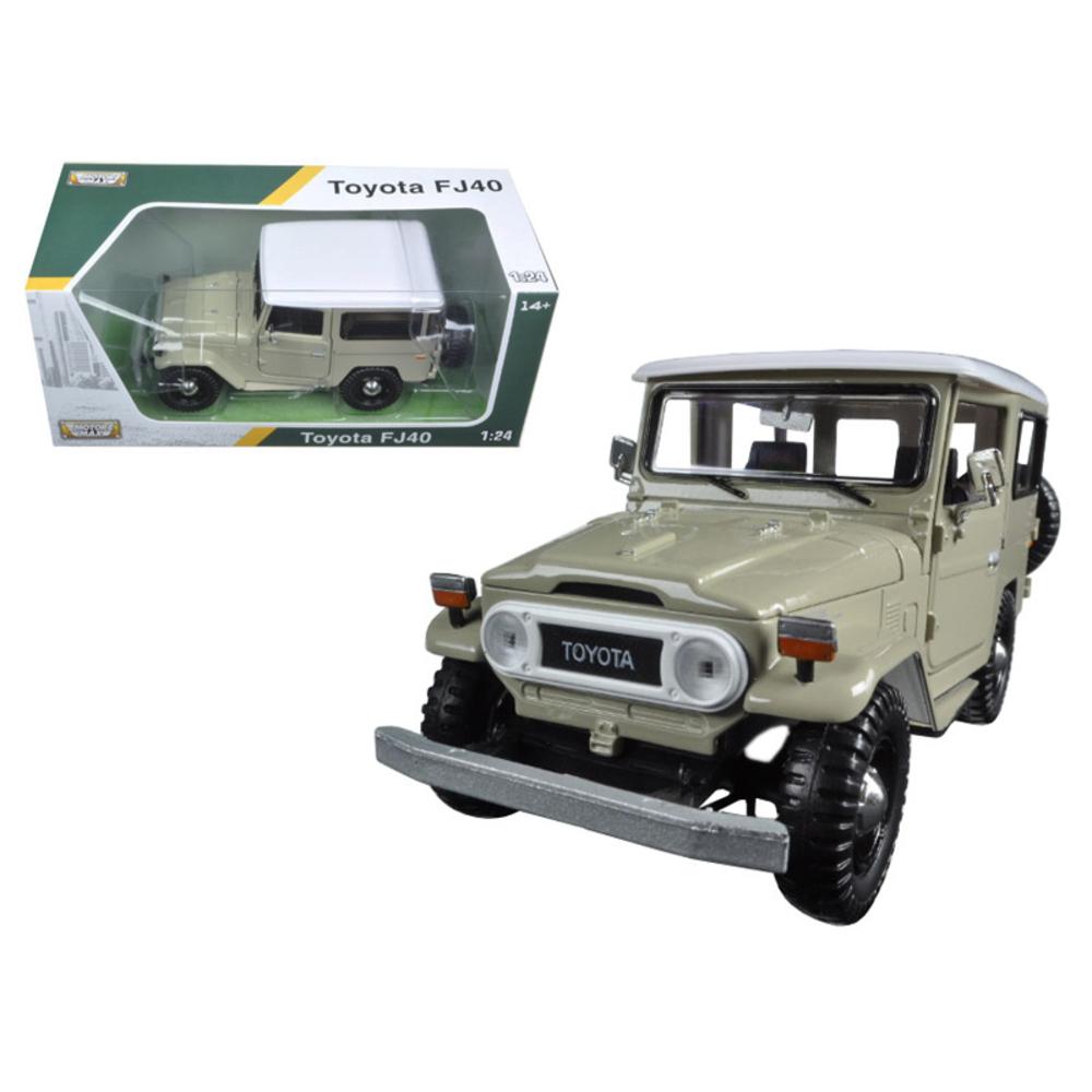 Toyota FJ40 Beige 1/24 Diecast Model Car by Motormax 79323BG