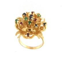 Women's 14kt Yellow Gold Cluster ring - $799.00