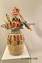 JIM SHORE Heartwood Creek SNOWMAN with CAT Christmas Ornament Enesco 2003 - $10.39