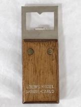Vintage Loews Hotel Monte Carlo Casino French Riviera Bottle Opener MId ... - $22.80