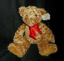 FIRST & MAIN 2010 TUCKER # 1715 BROWN TEDDY BEAR STUFFED ANIMAL PLUSH TO... - $23.38