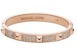 NWT MICHAEL KORS MKJ3824791 PYRAMID Rose Gold Tone Crystals Pave Bracelet - $79.99