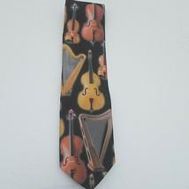 Ralph Marlin String Instruments Mens Necktie Music Musician Gift Neck Tie  - $21.68