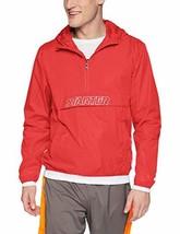 Starter Men's Popover Packable Jacket, Team Red, Large