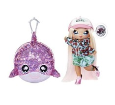 Na Na Na Surprise 2-in-1 Fashion Doll and Sparkly Sequined Purse Sparkle... - $15.88