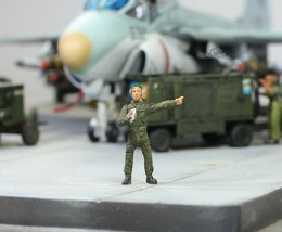 USAF Ground Support Crew 1:72 Pro Built Model #8 - $14.83