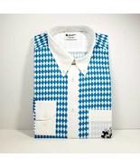 Bavarian Shirt Unisex Fits Men's XL Blue White 100% Cotton Oktoberfest C... - $34.99