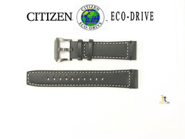 Citizen Eco-Drive 59-S54000 / JY8077-04H 23mm Black Leather Watch Band  - $109.95