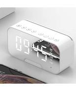 Wireless Bluetooth 5.0 LED Mirror Alarm Clock Multi(white) - $16.77