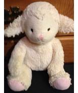 Bean Spout Lamb Plush Cream Lovey Pink Feet Bean Sprout plush Sheep w/ P... - $29.99