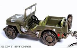 KEY CHAIN USMC JEEP WILLYS GPW 4x4 WW2 KOREA & VIETNAM MARINES ARMY CAMO... - $48.98