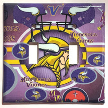 Minnesota Vikings Light Switch Power Outlet Duplex Wall Cover Plate Home Decor image 5
