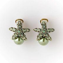 "Heidi Daus ""Sea-ing Stars""  Starfish Clip-on Earrings ,  Swarovski crystals - $39.95"