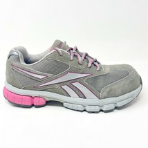 Reebok Work Turnover Grey Pink Oxford Womens Composite Toe Shoes RB445 - $39.95