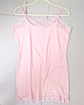 Plus Lace Camisole, Peach Lace Camisole, Long Peach Camisole, Colbert Clothing