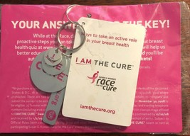 I Am The Cure Susan G Koman Breast Cancer Awareness Keychain unopened pa... - $4.21