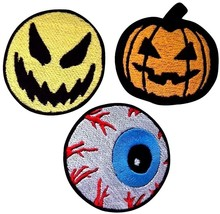 Halloween Embroidered Patches Iron On Bag Jeans Cartoon Jacket Badge App... - $2.88+
