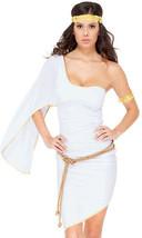 Sexy Forplay Glam Roman Goddess White & Metallic Gold Dress Costume  559302 - $47.99