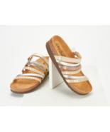 Naot Leather Multi-Strap Slide Sandals - Prescott, Gold Multi, 38 EU - £52.91 GBP