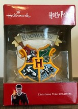 Hallmark Harry Potter Hogwarts Crest Boxed Christmas Ornament NEW - $15.99