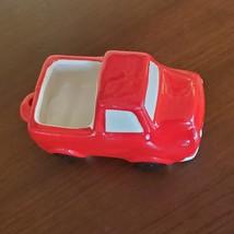 "Red Truck Planter, Vehicle Plant Pot, Van Life, Boys Room, 5"" ceramic pickup image 2"