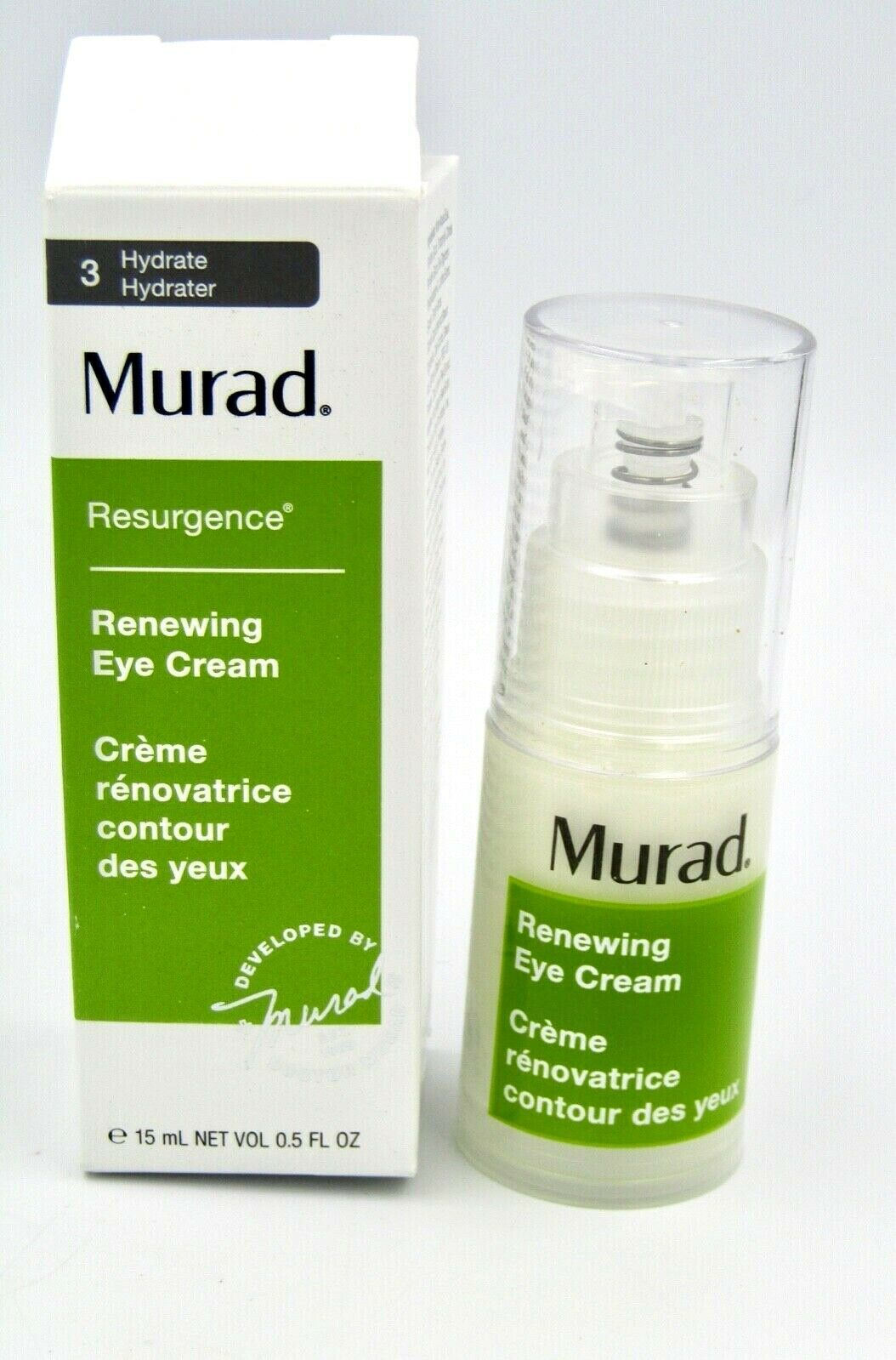 Primary image for Murad Renewing Eye Cream 15 ml 0.5 fl oz Hydrate Resurgence New (Retail $ 82.00)