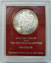 1880 S Morgan Dollar Redfield Collection Hoard Pedigree Paramount Toned ... - $349.99