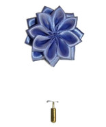Men's Powder Blue Solid Lotus Flower Lapel Pin - $10.79