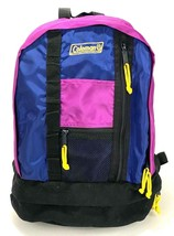 "Coleman Backpack-Hiking School-Purple-Zippers Pockets-15.5"" - $32.71"