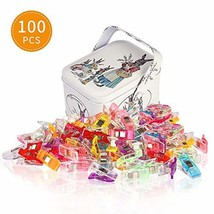 Soraco Craft Sewing Clips for Quilting with Tin Box Package,Pack of 100 - £9.18 GBP